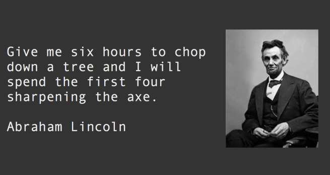 Abraham Lincoln on Planning