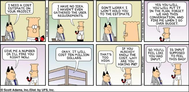 Dilbert on Estimations